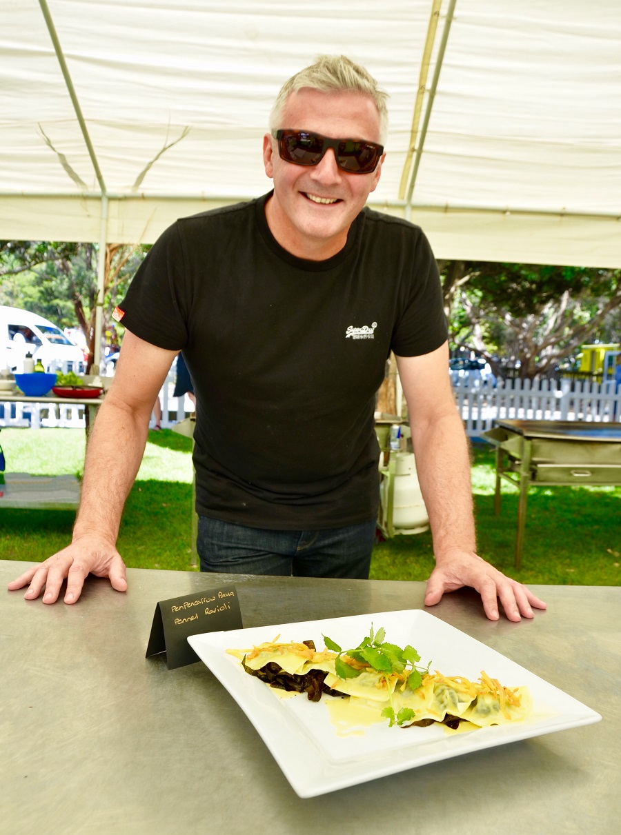 1st Runner up Mike Swift Pencarrow & Fennel Ravioli with south coast Kelp, Korokoro watercress & beurre blanc sauce.