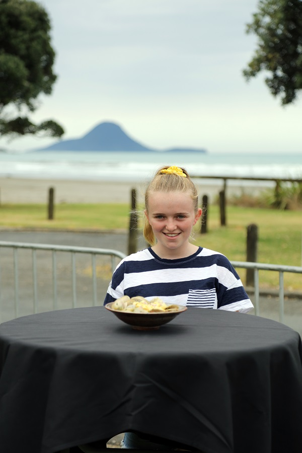 Local Wild Food Challenge Whakatane 2019- Emi Jones - Children Best Junior Pipi Pasta
