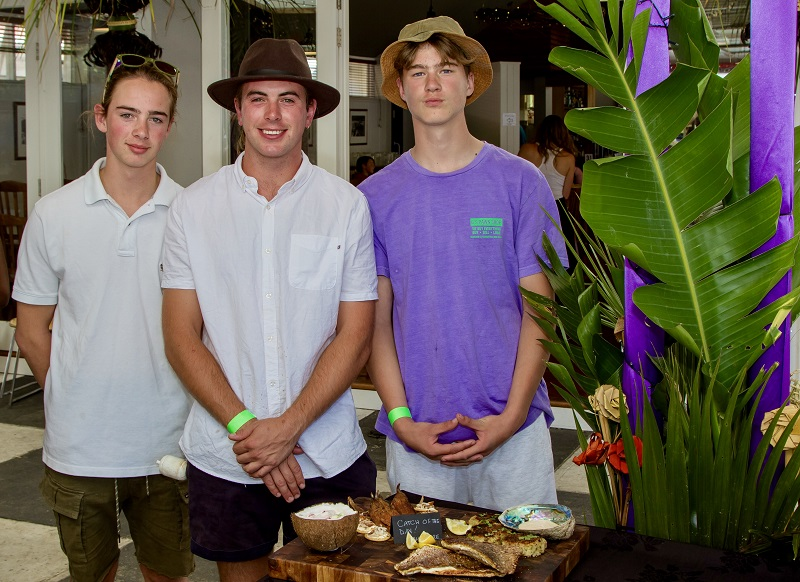Best from the Water - Logan Gibb, Fletcher & Hunter Fink 'Yesterday's Catch of The Day in harbour on Kayaks' Smoked Kahawai Fish Cakes with Chipotle Sauce Okaia Trevally in Coconut Cream Smoked Mackerel Crispy fresh Snapper