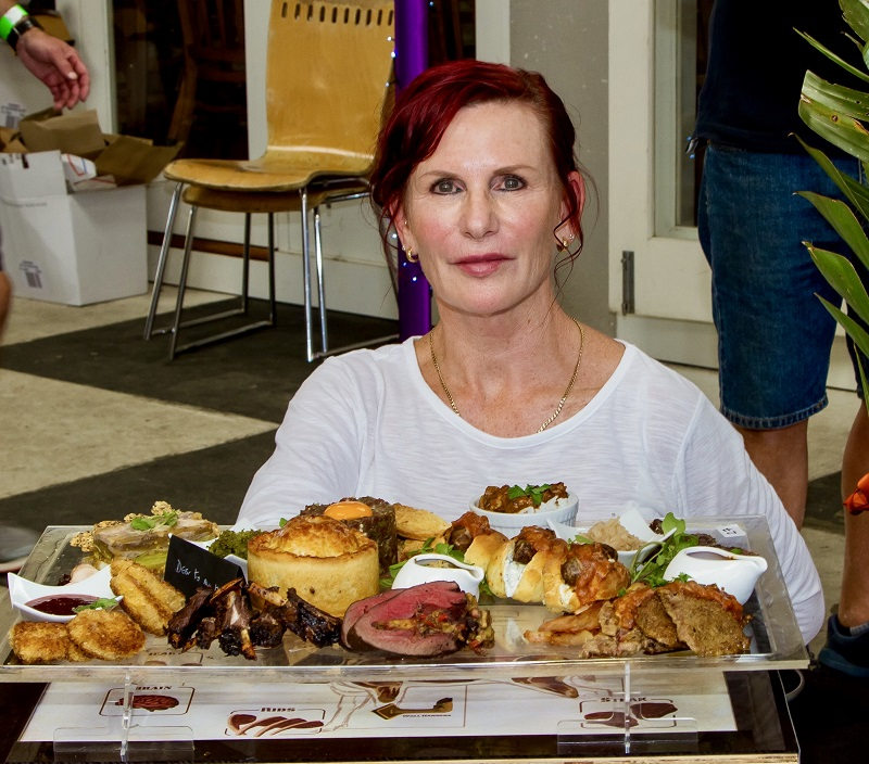 Best Effort - Suzie White 'Deer to my Heart' A tasting platter of wild venison dishes taking nose to tail approach.. Crumbed brains in plum sauce BBQ testicles with balsamic onion chutney Terrine of tongue and leek with wild fennel seed crackers Steak tartare with farm egg yolk watercress & kumera toast Braised cheeks in spiced coconut sauce Chorizo sausages, homemade buns, yoghurt sauce Liver and Bacon in basil & tomato sauce Steak & Kidney Pie served with mushy peas Stuffed heart served with butter sauce Honey BBQ glazed ribs Biltong with pickled cabbage